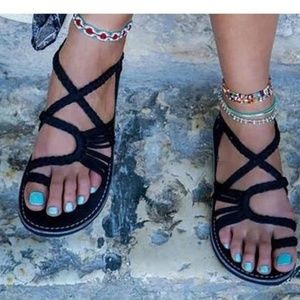 Shoes - Flat pull on sandals